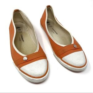 Longchamp Le Pliage Orange Canvas slip-on sneaker